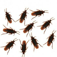 10x Cockroach Bug Fake Rubber Roach Simulation Roach Killers