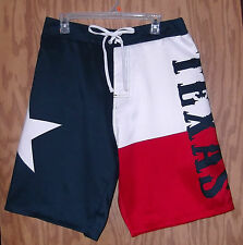 Texas Flag Board Shorts *NEW DESIGN* Lone Star Swimming Trunks - size Large