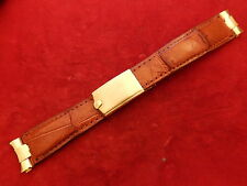 ROLEX SOLID 14K GOLD DEPLOYMENT CLASP BUCKLE 19MM END PIECE STRAP BAND BRACELET