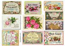 10 FURNITURE DECAL STICKER SHABBY CHIC FRENCH IMAGE TRANSFER VINTAGE LABELS