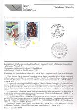 ITALIA 1999 IL SANTO NATALE BOLLETTINO COMPLETO DI FRANCOBOLLI FDC