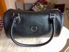 Ladies Fred Perry Classic Barrel Bag.