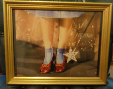The Wizard of Oz Gold Framed Photo of  Dorothy`s  Red Slippers