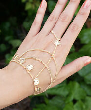 Gold Hand Chain, Gold Hand Chain Bracelet, Gold Ring, Ring Bracelet, Hand Piece