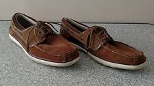 Skechers Men's Relaxed Fit Memory Foam Suede Boat Shoes Size 13 Brown Lace