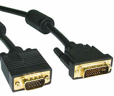 Largo 5m Gold Dvi A Vga Cable Cable Conecta Pc Notebook Laptop A Monitor