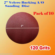 "10x 7"" 120 Grit Sanding Disc Paper Hook and Loop Grinder Sander Abrasive"