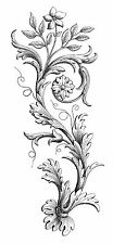 Unmounted Rubber Stamp - Etched Flourish - 6041