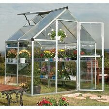 Outdoor Polycarbonate Greenhouse Rigid Structure Walk In Green House Heavy Duty