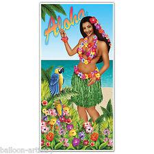 5 pies tropicales Hawaiano Aloha Luau chica hula Tapa De Puerta Cartel Banner Decoración