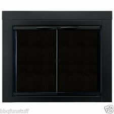 Pleasant Hearth Glass Fireplace Door Alpine Black Medium AN-1011 Mesh Screens