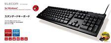 ELECOM USB keyboard 108 key Wii PS3 support TK-FCM062BK Black New Japan