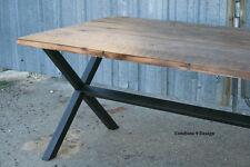 Vintage Industrial Dining Table. Minimalist, Modern, Urban. Steel/Reclaimed Wood