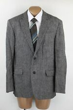 Esprit Sakko Jacket Winter Tweed Patches Gr.52 Fischgrät 2-Knopf Top Zustand