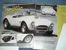 "ERA Replicated Auto Cobra Kit Car Info Article ""Power-Packed Prototype"" Shelby"