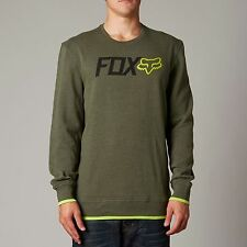 FOX RACING WARMUP CREW FLEECE SWEATER FATIGUE GREEN XL MOTOCROSS % SURF BMX