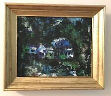 Vintage Mid Century Abstract Expressionist Oil Painting