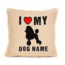 Lovely I Love My Poodle Decorative Cotton Cushion Home Dog Lover Gift Present