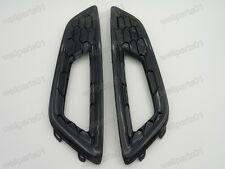 1Pair Black Sport Fog Light Lamp Bumper Grille Trim Bezels For Ford Focus 2015