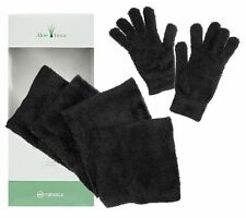 Aloe Vera Infused Must-Have Comfortable Scarf One Size Solid Black NEW A238289