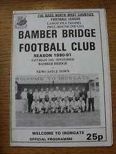 15/09/1990 Bamber Bridge v Newcastle Town [Lamot Pils Trophy]  (Item has no appa