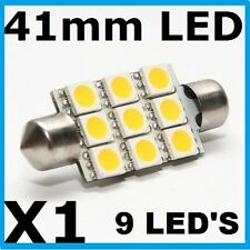 41mm Bright 9 LED'S Festoon Dome Interior Car Light Bulb 6000K