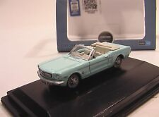 1965 Ford Mustang Convertible Tropical Turquoise  1:87 Oxford  87MU65002