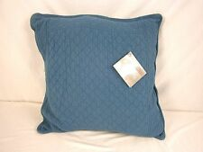 """The Company Store William and Mary Matelassé 18"""" Square Pillow Blue 779KCZ QP49"""