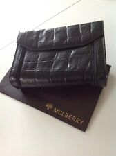 BELLISSIMO Mulberry Vintage Nero Congo Custodia in pelle/clutch bag