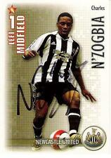 A Shoot Out card Charles N'Zogbia at Newcastle United. Personally signed by him.