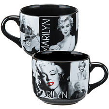 NEW Marilyn Monroe Black & White Portrait Collage Extra Large 20 Ounce Soup Mug