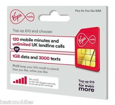 Virgin Pay As You Go metti standard / MICRO / NANO Combi Multi SIM Pack