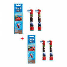 Braun ORAL-B EB10 Stages Power Replacement Brush Heads 4EA [ Disney Cars ]