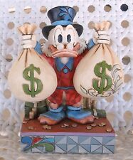 "Rare!Disney Uncle Scrooge ""A Wealth of Riches"" Money Statue Donald Duck Figurine"