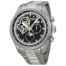 Zenith El Primero Grande Date Automatic Black Dial Stainless Steel Mens Watch