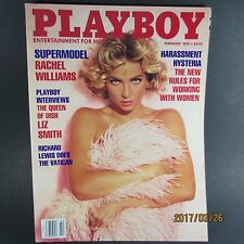 Playboy magazine February 1992 Rachel Williams Tanya Beyer  NEAR MINT
