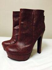 New Victoria's Secret Colin Stuart Burgundy Ankle Boots Booties 8.5