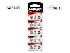 10 Camelion Knopfzellen AG7 Alkaline Batterien Uhrenbatterien Knopf Zellen NEU!