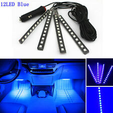 Car SUV Interior Footwell Floor Decor Atmosphere Light 4X12 LED Blue Neon Strips
