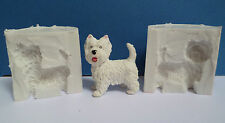 3D WESTIE DOG SILICONE MOULD FOR CAKE TOPPERS, CHOCOLATE, CLAY ETC