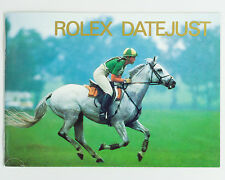 Original Rolex Datejust English Booklet Dated 1995!