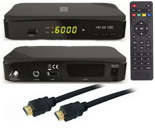 FULL HDTV HD Digital Sat receiver opticum ax 150 dvb-s2 USB 2.0 cable HDMI
