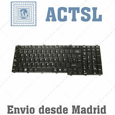 Keyboard Spanish for Toshiba Satellite P200-1BK Backlit Glossy