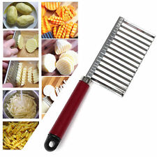 Stainless Steel Crinkle Cut Knife Wavy Blade French Fry Cutter For Potatoes