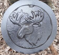 new plaster concrete moose stepping stone mold