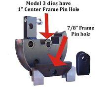 """2"""" Round Tube Die Set 6.5""""CLR-180 JD2 Model 3 Bender"""