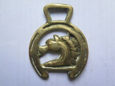 ## PONY SIZE HORSE BRASS ## HORSE BRASS HORSE or DRAGONS HEAD c1960s HORSESHOE
