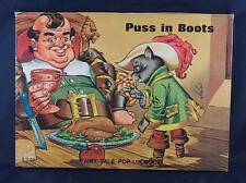 Vintage Puss In Boots Fairy Tale Pop Up Book Hardcover Children's Book egm