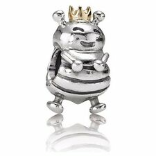 Authentic Pandora Sterling Silver & 14k Gold Queen Bee Bead 790227