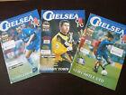 Chelsea v 1996-97 Season Home FA Cup Run Bundle x 3 Programmes